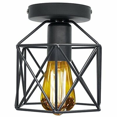 Mini Retro Rustic Ceiling Light Fixture Industrial Vintage Semi Flush Mount