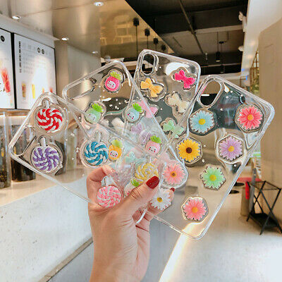 Cute Patterned Luminous Glitter Clear Case Cover For i Phone XS MAX XR 8 6s Plus