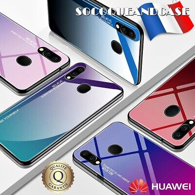 Case Cover Gradient Glass TPU+PC Case for Huawei P30, Lite & P Smart