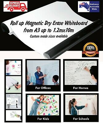 Roll up Magnetic Dry Erase Whiteboard Sheet Custom sizes Free Delivery Australia