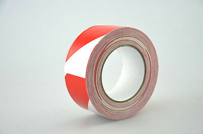 Warning Duct Tape 650-50WR White Red Fabric Adhesive Marking