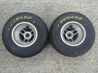 Kart Pair Of Front Wheels With Tyres Rotax X30 Tkm Tonykart Alonso Birel