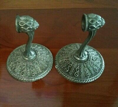 Pair of towel bar ends Amer. Tack & Hdwe Co. 1968 #D2404 Vintage