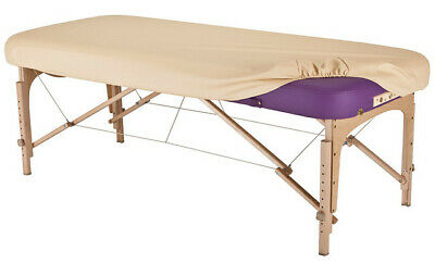 Massage Table Cover - FITTED Upholstered Cover in  MARIES BEIGE