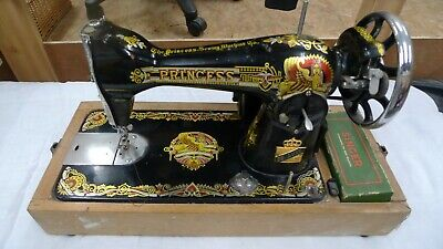 Beautiful ornate Antique Princess sewing machine with Universal Sewing Motor
