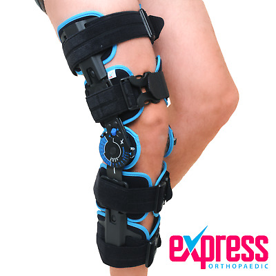 Telescopic ROM Knee Brace - Adjustable length for Post Op ACL Ligament Surgery