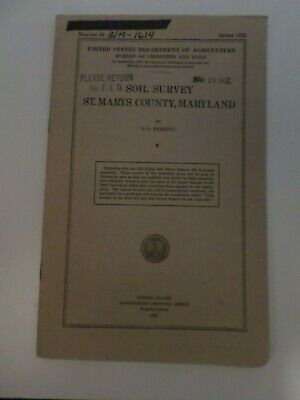 Soil Survey Map Saint Mary's County County Maryland 1919 Color Map Maps