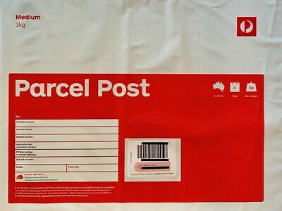 10 x 3kg Parcel Post Regular Satchel Aus Post Prepaid with Tracking GST inc
