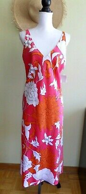 NWT $54 N NATORI NIGHTGOWN S//M//L//XL /'MONGOLIA/' PURPLE//RED//GOLD FLORAL CHARMEUSE