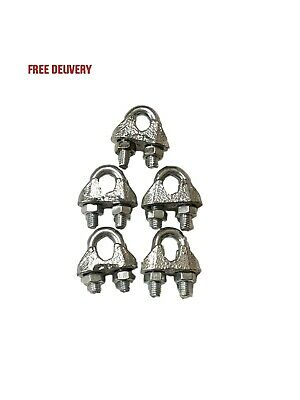 Din741 Wire Rope Clamps - Wire Grips - Bulldog Grips - Choose Size & Quantity
