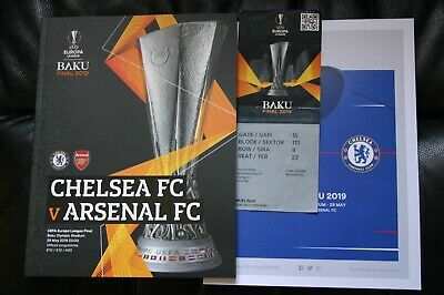 Chelsea v Arsenal 2019 Europa League Final Programme and Ticket