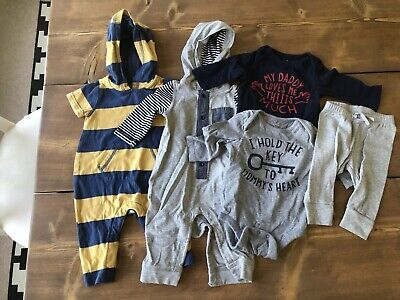 Baby Gap Boy Lot 3-6 Months One Pieces Bottoms Tops