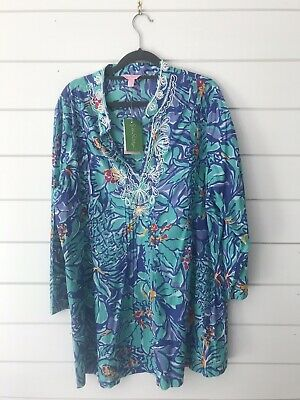 a6cbccb67cea NWT LILLY PULITZER Iris Blue Latitude Rosalina Maxi Dress L Xl Runs ...