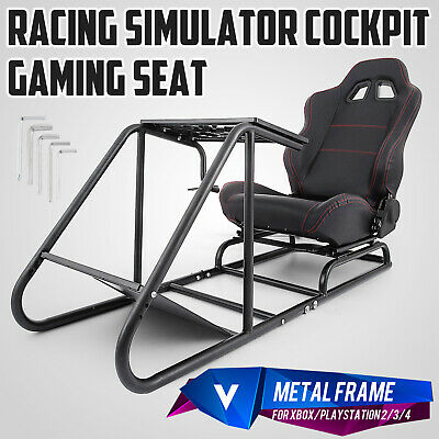 Racing Simulator Cockpit Driving Seat Gaming Chair Sturdy Carbon Steel XBOX