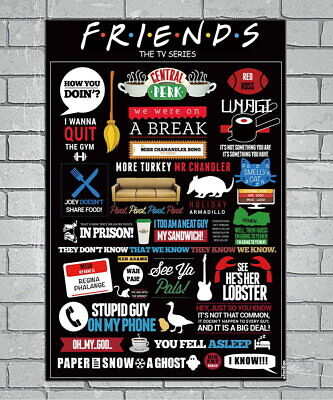 143828 FRIENDS US Classic TV Series Show Wall Print Poster UK
