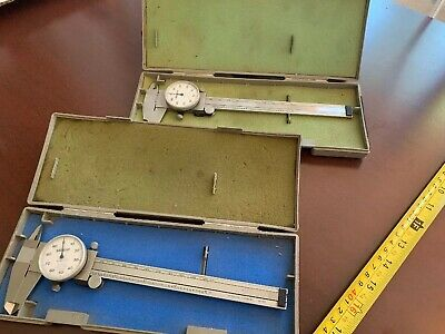 "Mitutoyo Dial Gauge Caliper No. 505-637-50 6"" With Case"