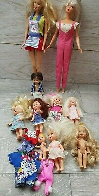 Barbie & Sister Kelly Shelly Doll & Friends Large Lot