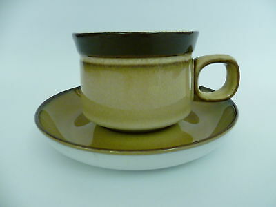 4 X Elegant Denby England Country Cuisine Tea Cups and Saucers (8.5x6.5)