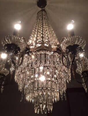 Antique French/Italian Empire crystal Chandelier