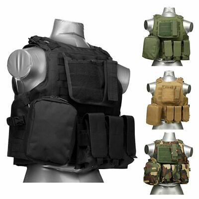 Military Airsoft Molle Combat SWAT Police Tactical Adjustable Plate Carrier Vest