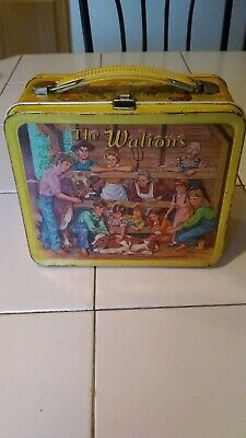 Vintage 1973 Metal The Waltons Lunchbox Aladdin Lorimar No Thermos Lunch Box