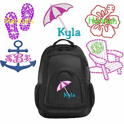 Personalized Flip-Flops/Beach/Hibiscus Flower/Anchor/Chair Book Bag | Backpack