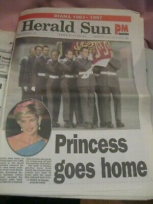 Princess Diana Memorabilia - Newspapers From 1997