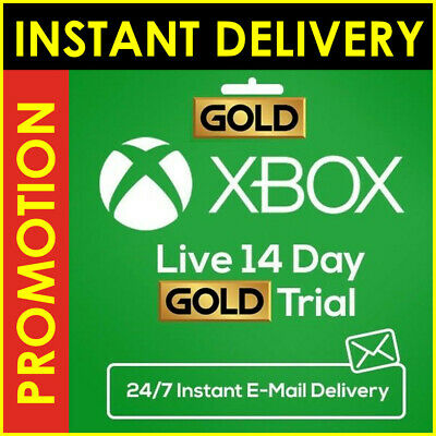 Xbox Live 14 Day (2 weeks) Gold Membership Trial Code Microsoft FAST DELIVERY/.,