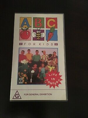 Abc Video Abc For Kids Live In Concert Vhs Video