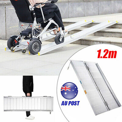 4FT Portable Aluminium Fold-out Loading Access Ramp Wheelchair Mobility Scooter
