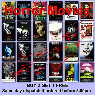 Classic Horror Movie Posters Film Poster 111 Titles HD Borderless Printing