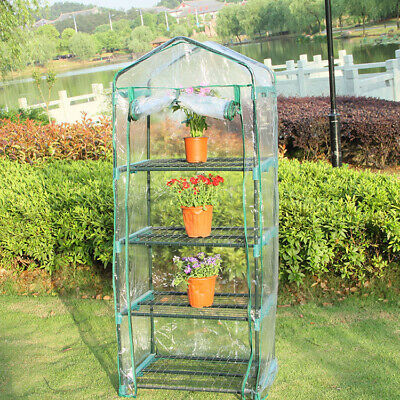 4 Tier Compact Mini Greenhouse Pvc Removable Cover Garden Plants Indoor Outdoor