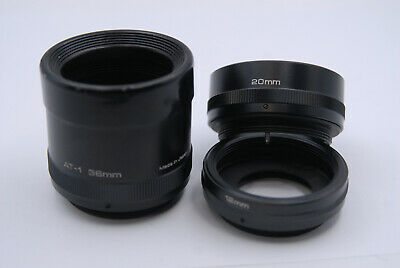 Vivitar Automatic Extension Tube Set AT-1 36mm 20mm 12mm - M42