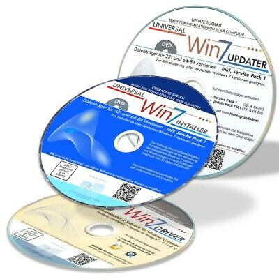 Installation CD/DVD-Set für Windows 7 Home Professional & Ultimate inkl. Treiber