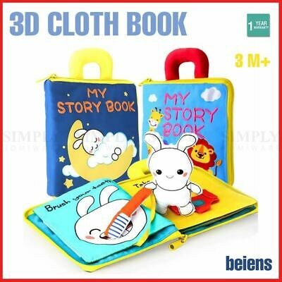 Cloth Book Activity Baby Kids Learning Fabric Shape Travel Toy Wash High Quality