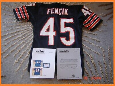 e7a34945d92 Game Worn Used Chicago Bears Gary Fencik Football Jersey 1980's Vintage  w/LOA