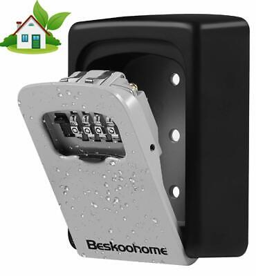 Key Safe Wall Mounted Lock Box Waterproof Combination Code Secure Storage Shed