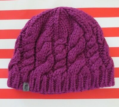 12cc124163c254 The North Face Youth girls Cable Minna Beanie ~~ only used couple times ~ sz