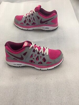 ea73ce2adf Nike Dual Fusion Run2 Running Trainers White Pink Grey Size UK 4.5 EUR 37.5