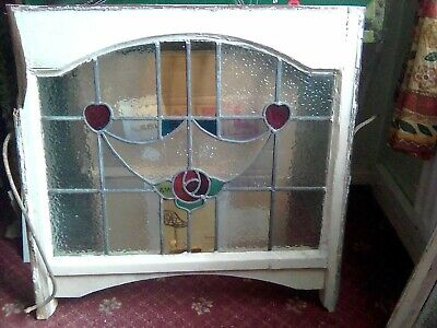 Traditional Victorian design stained glass decorative panel B