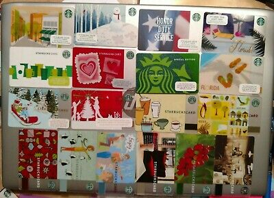 STARBUCKS Gift Cards - 2002-2016 $3-$40/ea **FREE SHIPPING** Collectible (Empty)