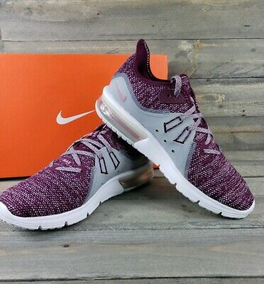 16c2e39f55 Nike Women's Air Max Sequent 3 Running Shoes 908993 606 SIze 7.5 Bordeaux  Pink