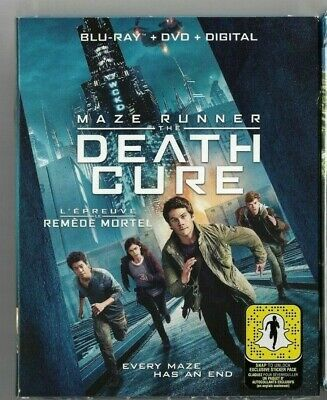 Sealed Blu-Ray + Digital + DVD - THE MAZE RUNNER  DEATH CURE  - Also In French