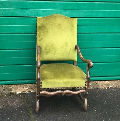 Pair of Antique French Louis XIV Upholstered ARMCHAIR