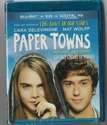 Sealed - Blu-Ray + DVD + DIGITAL HD - PAPER TOWNS -  Also In French
