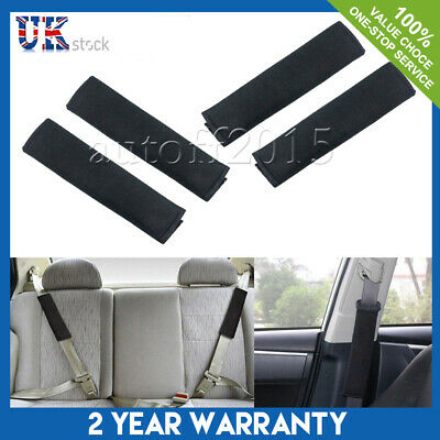 2Pcs Memory Foam Car Seat Belt Safety Pad Strap Cover Cushion Rucksack Bags UK