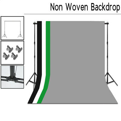 10FT Adjustable Muslin Colorful Backdrop Kits With 4 Crossbar Support Stand Sets