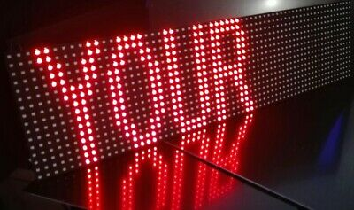 0.7M USB LED Sign Scrolling Your My Message RED P10 Display Bespoke