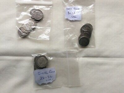 Mixed silver threepences and sixpences. 10 pre 1920 inc. two date runs.
