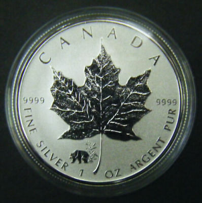 2017 Canada $5 1oz Chinese Panda Privy Mark Silver Maple Leaf Bullion coin